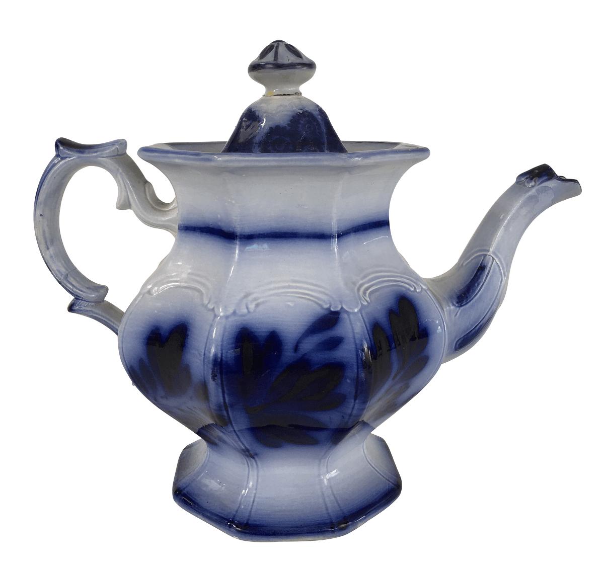 Grande Bule De Cha Porcelana Antiga Inglesa Borrao