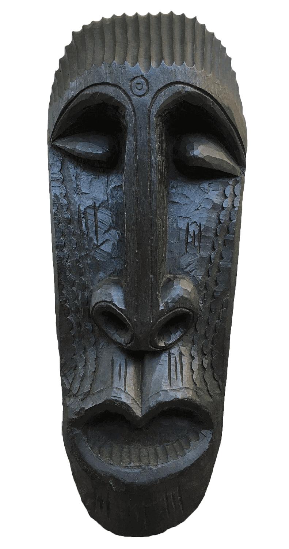 Grande Escultura Africana Em Madeira 83cm