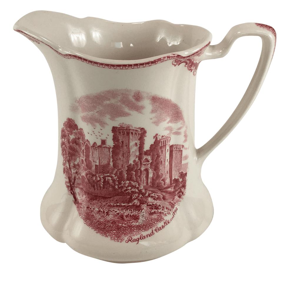 Grande Leiteira Antiga Porcelana Inglesa Rosa