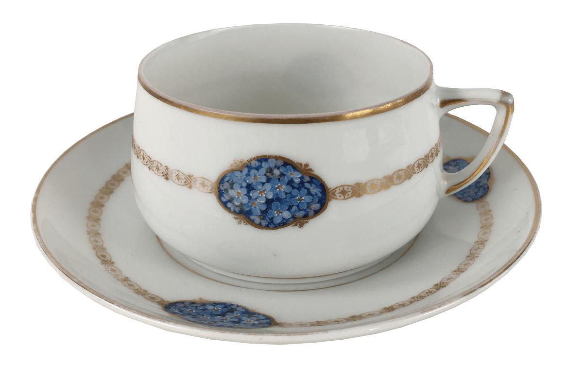Grande Xicara De Cha Porcelana Antiga Alema Silesia
