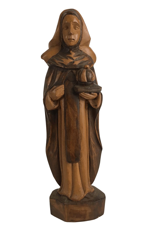 Imagem Sacra Santa Edwiges Em Madeira