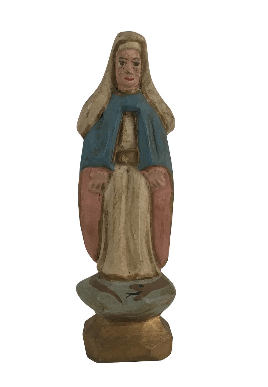 Imagem Sacra Santa Em Madeira