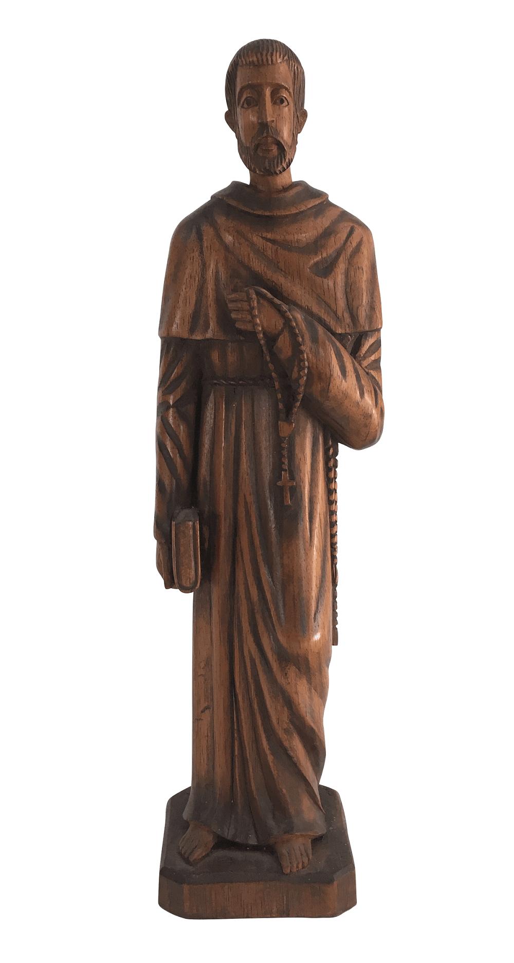 Imagem Sacra Santo Em Madeira 42cm Altura