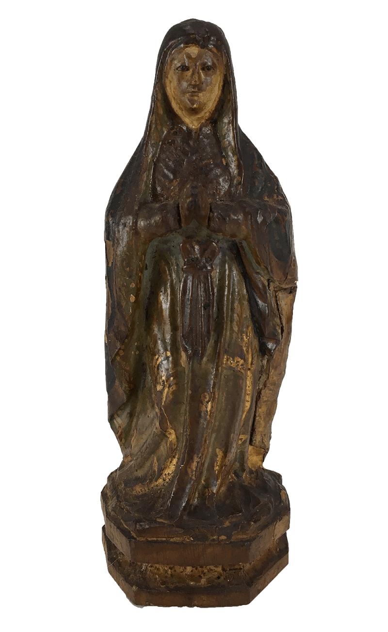 Imagem Santa Antiga Nossa Senhora Da Conceiçao Madeira Olho De Vidro