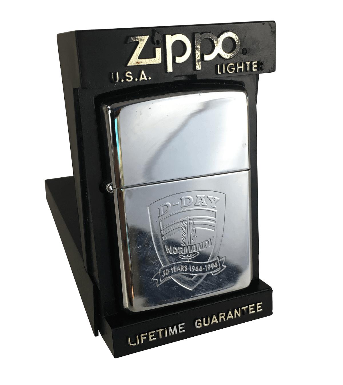 Isqueiro Antigo Zippo Na Caixa Original 50 Anos Normandy