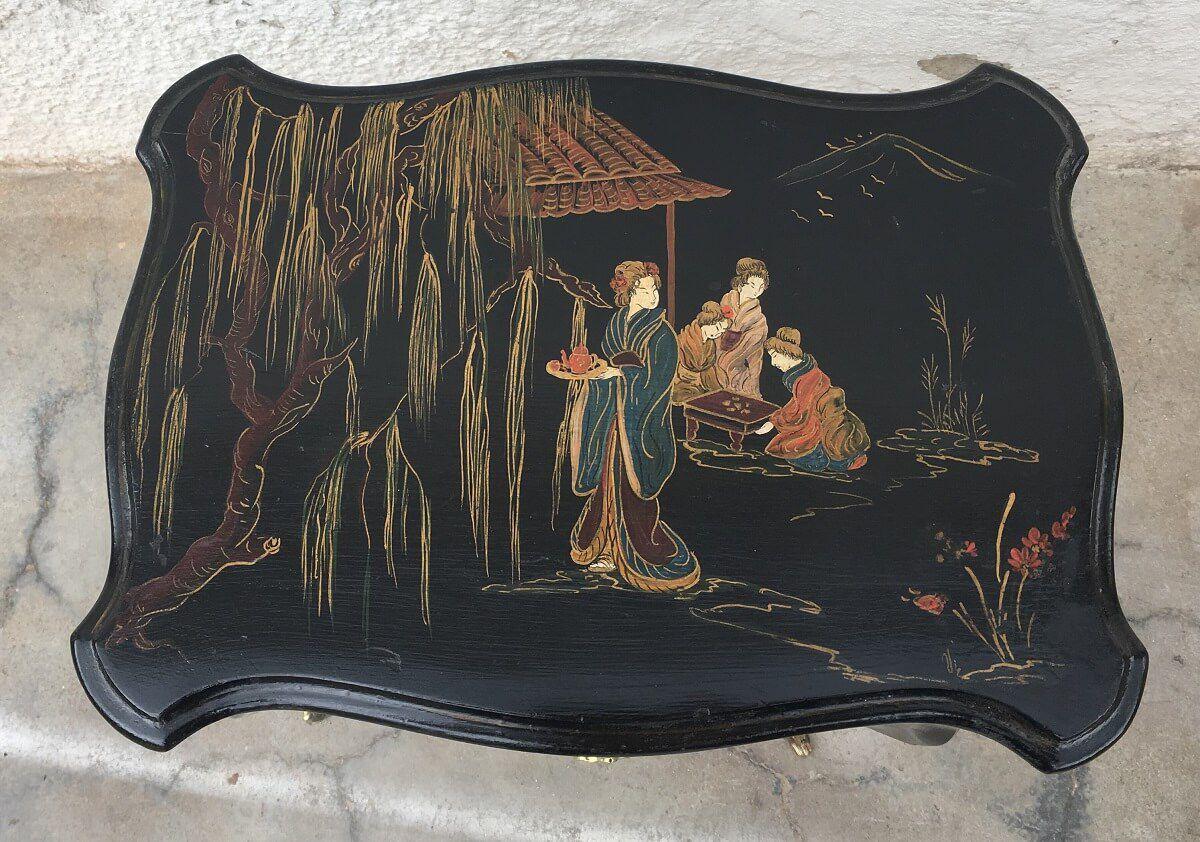 Linda Mesinha Antiga Chinesa Com Gavetas Pintado A Mao