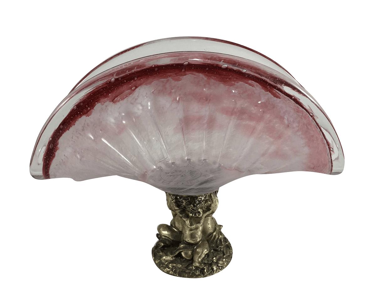 Lindo Porta Guardanapo Cristal Italiano Rosa