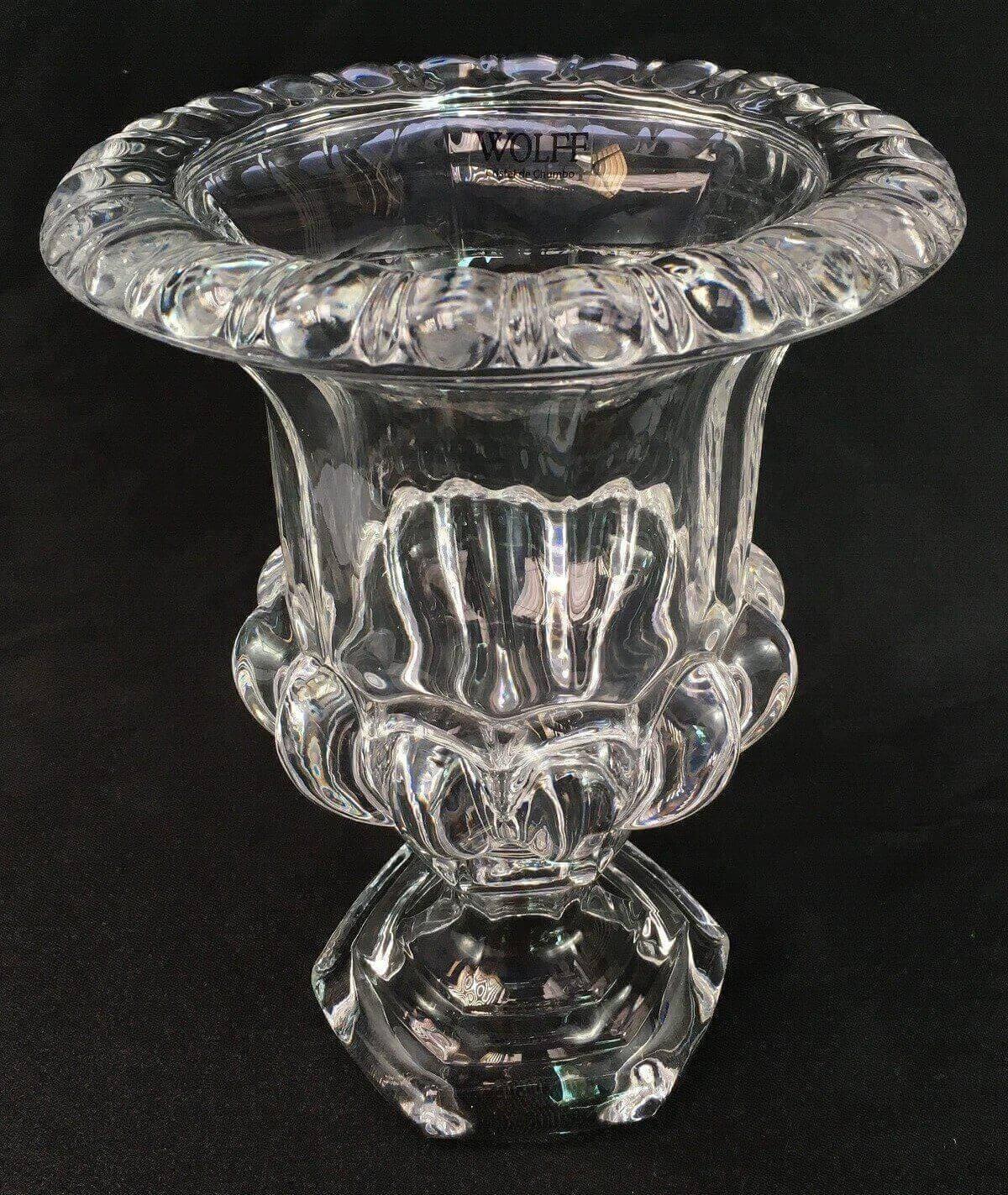 Lindo Vaso De Cristal Transparente 26cm