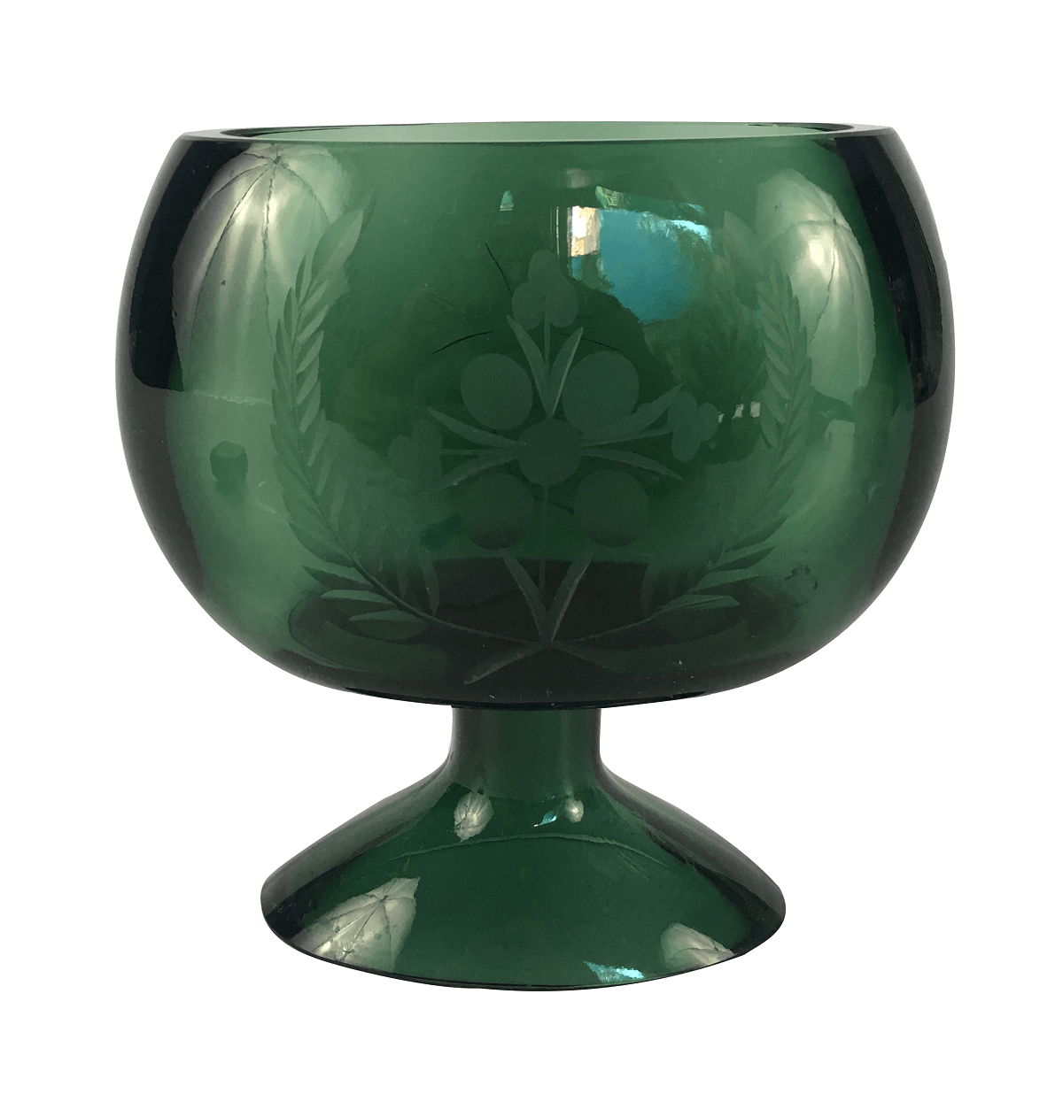 Lindo Vaso Em Cristal Verde 15cm