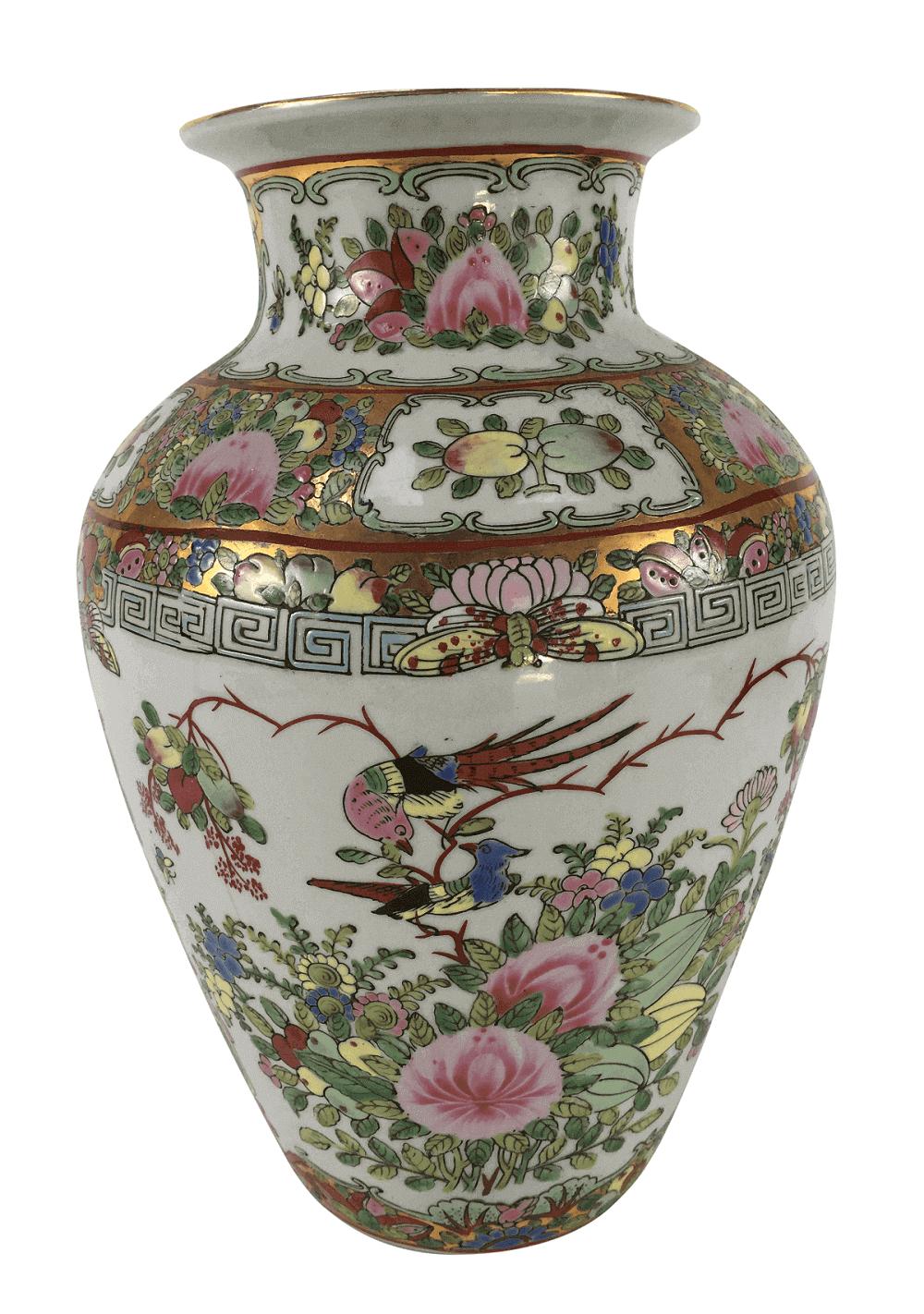 Lindo Vaso Porcelana Antiga Mandarim