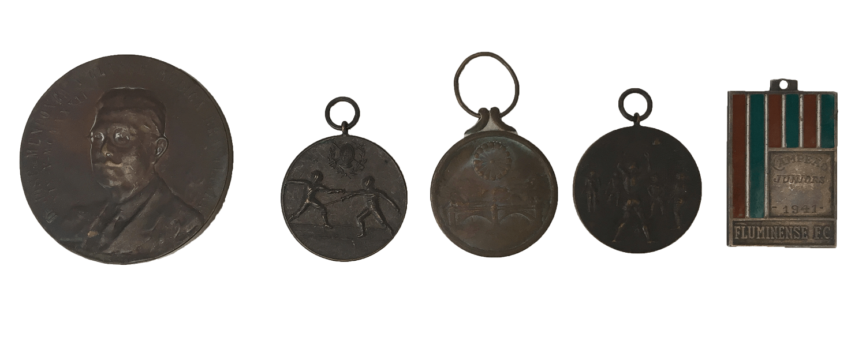Lote 5 Medalhas Antigas