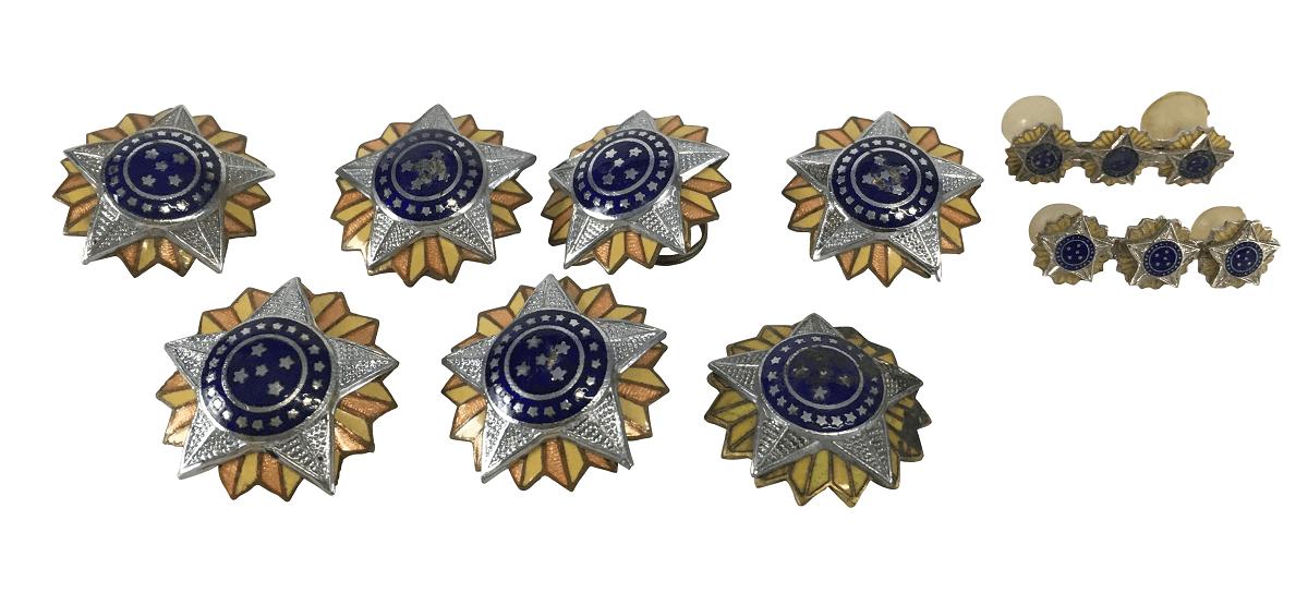 Lote Estrela Militar Antiga E Broches Insignias