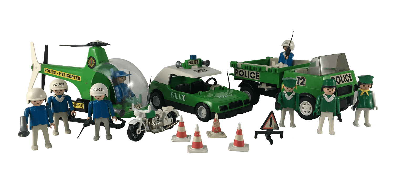 Lote Playmobil Antigo Policia