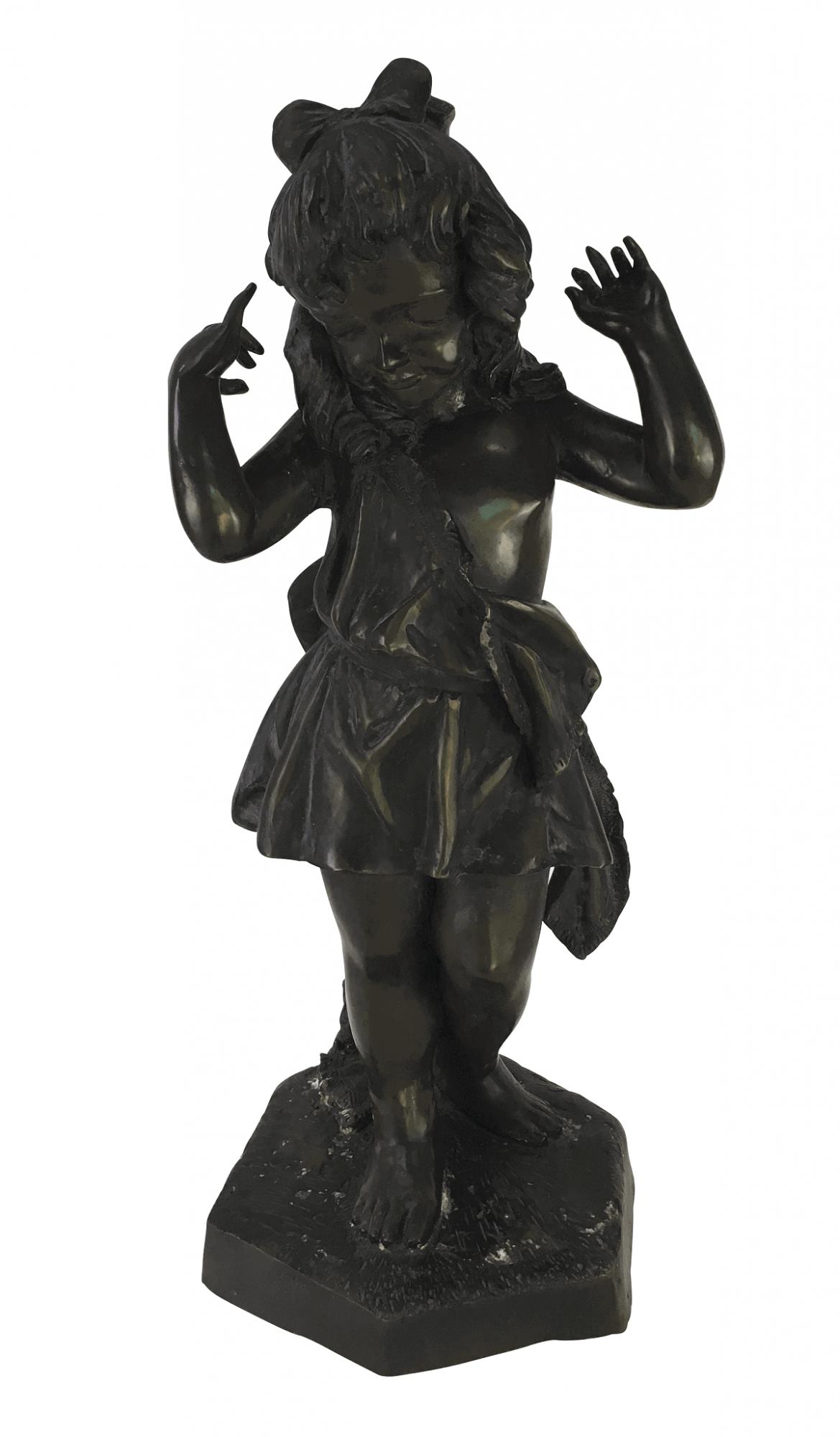 Magnifica Escultura Bronze Francesa Moreau 75cm