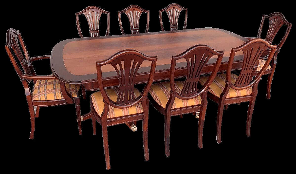 Magnifica Mesa De Jantar Antiga Com 8 Cadeiras Ingles