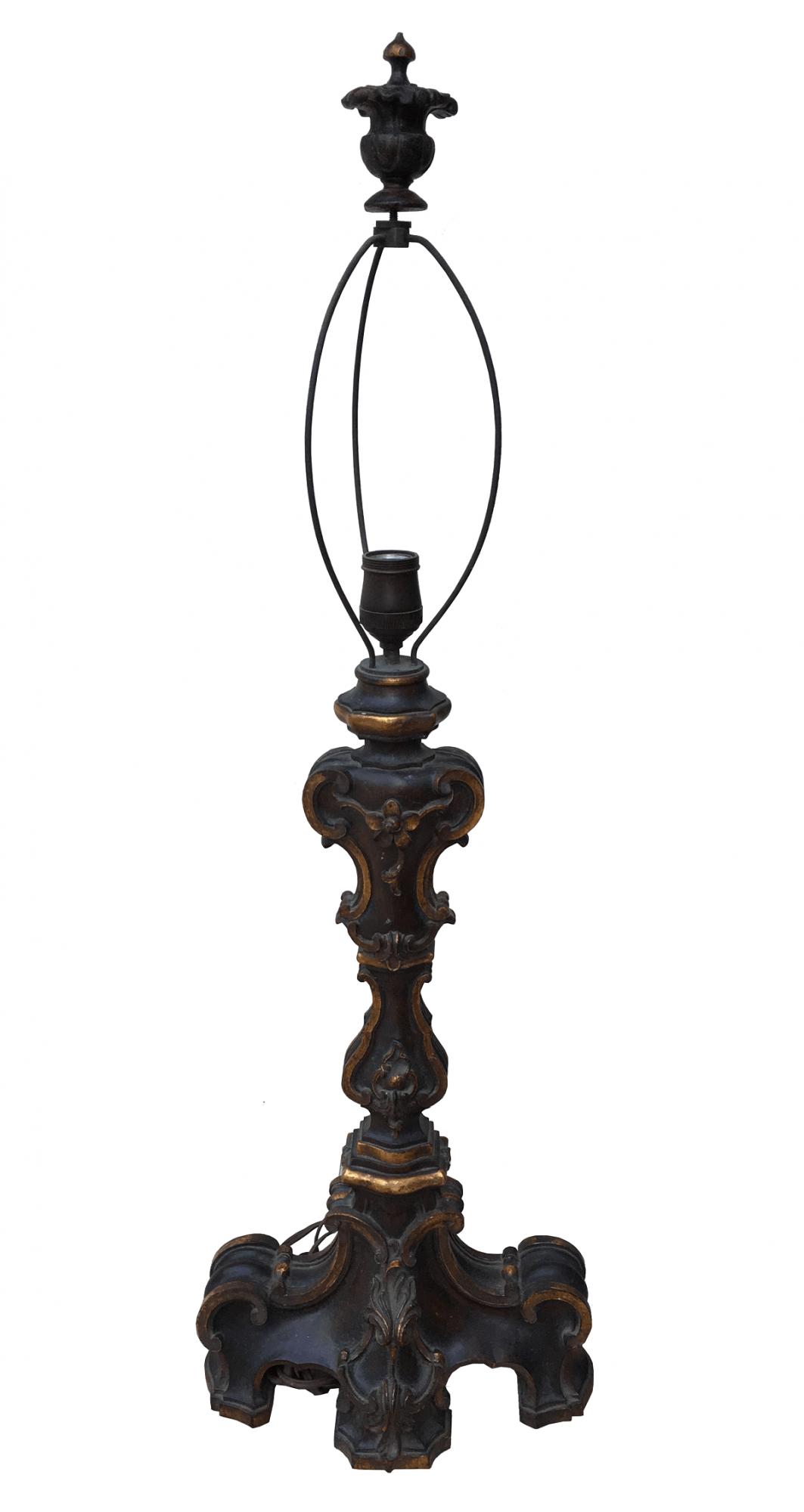 Magnifico Abajur Antigo Madeira Estilo Dom Jose 86cm