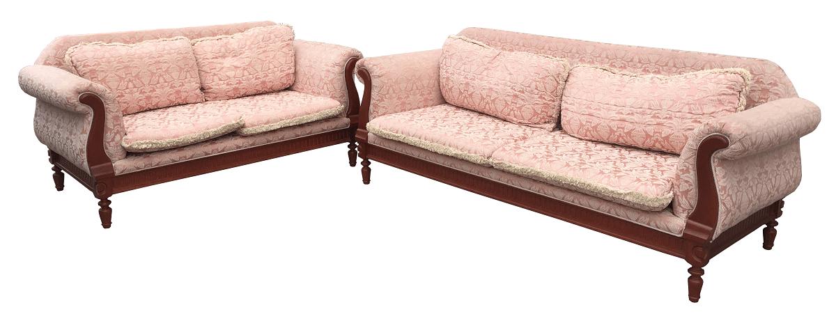 Magnifico Conjunto Sofa Sierra Moveis Pes Em Madeira Tecido Nobre