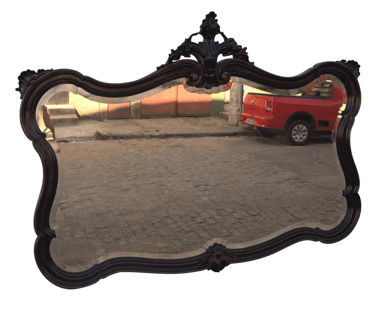 Magnifico Espelho Luis Xv Antigo Belos Entalhes A Mao