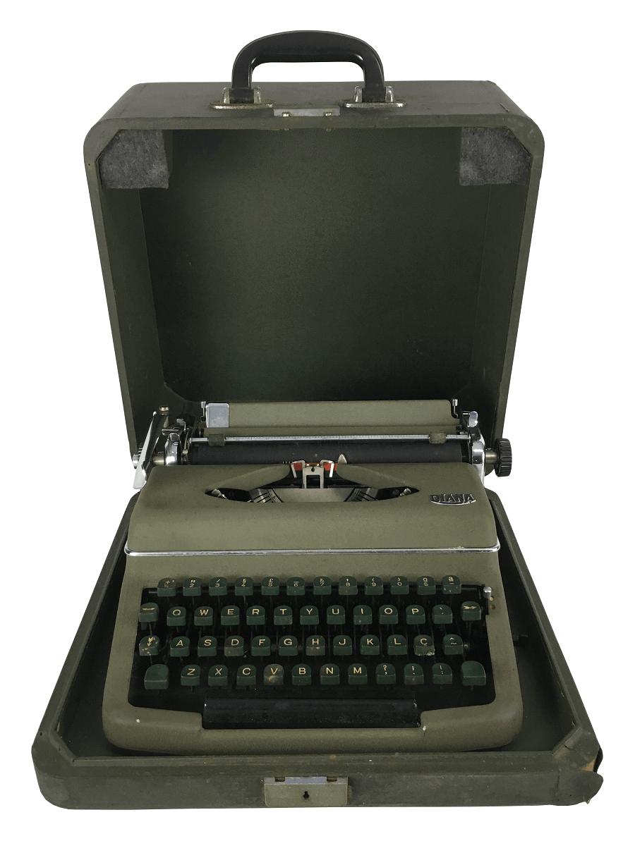 Maquina De Escrever Antiga Diana Na Caixa