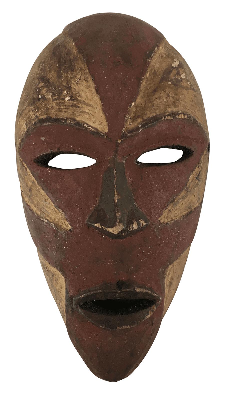 Mascara Decorativa Antiga Africana Em Madeira