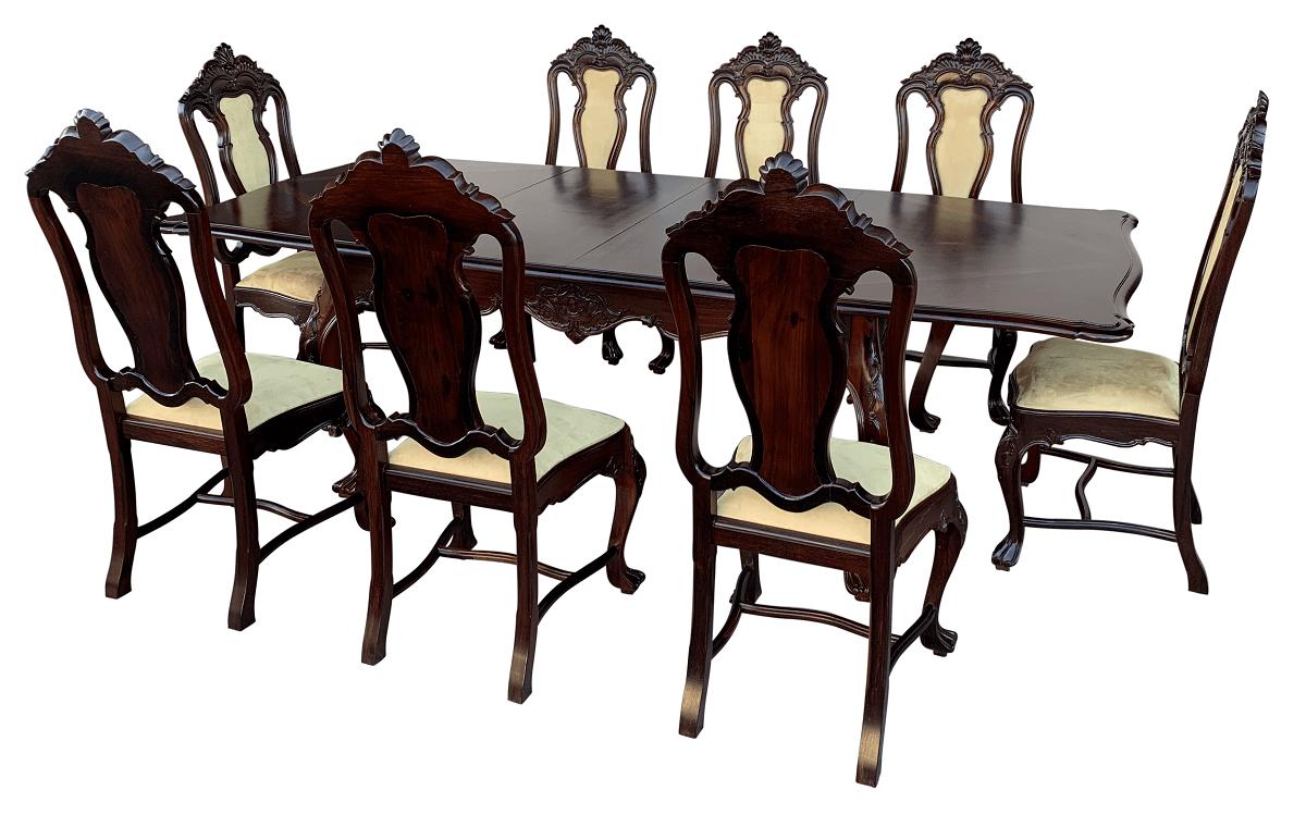 Mesa De Jantar Antiga 8 Cadeiras Dom Jose Jacaranda