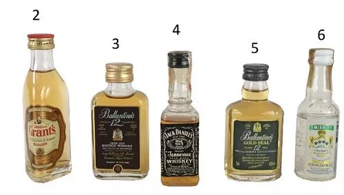 Mini Garrafa Whisky 50ml Lacrada (unidade)