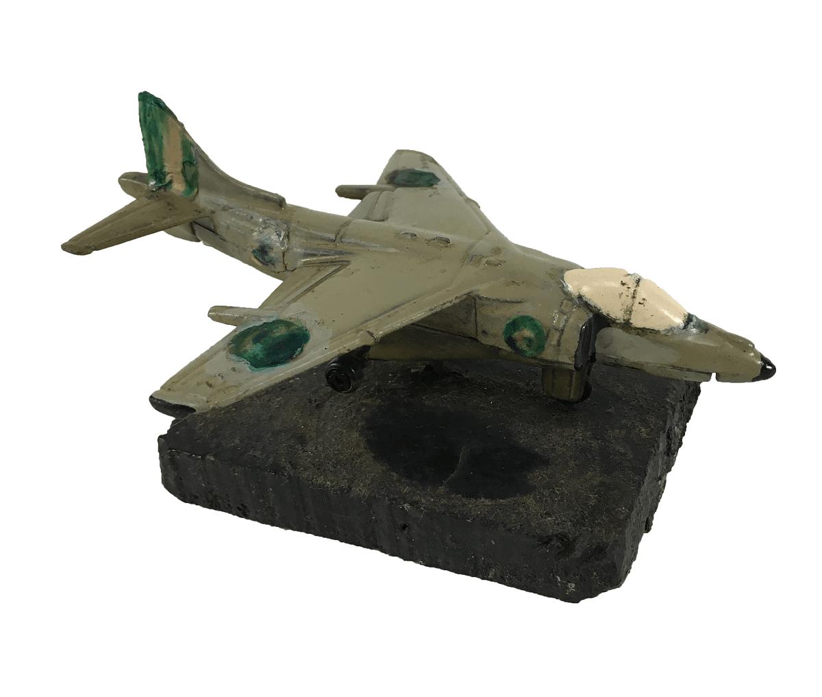 Miniatura Aviao FAB Metal Base Madeira