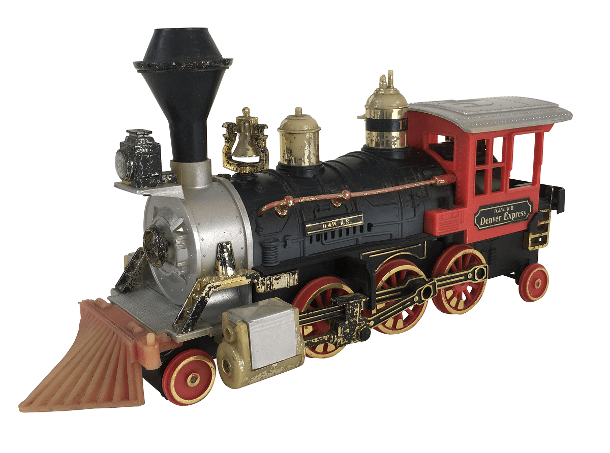 Miniatura Trem Antigo Locomotiva A Pilha New Bright