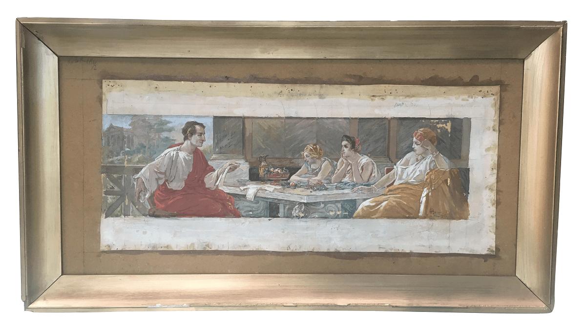 Obra Henrique Bernardelli Pintura Sobre Papel 1915