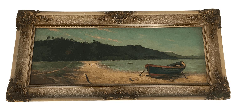 Obra Virgilio Lopes Rodrigues 1910 Oleo Sobre Madeira Assinado
