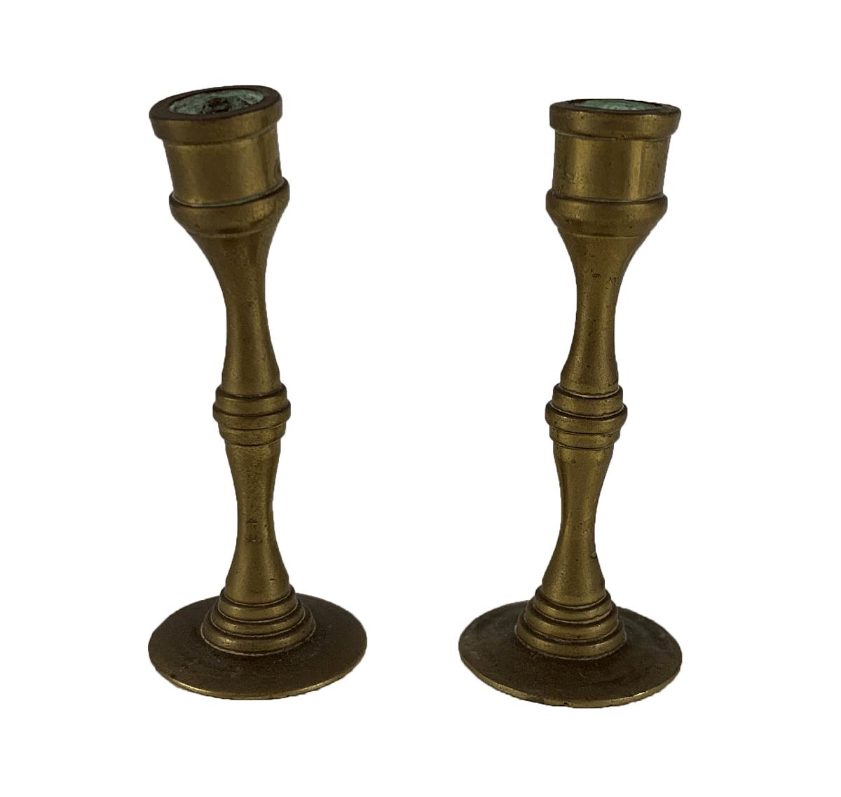 Par De Castiçal Antigo Em Miniatura 7cm Altura