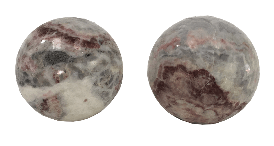 Par De Esfera Bola Decorativa Em Marmore