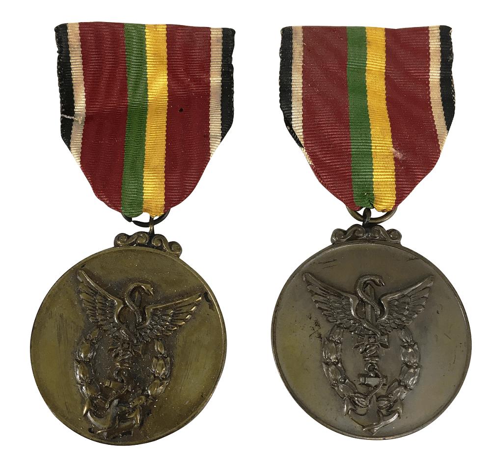 Par De Medalha Antiga 1º Congresso Medicina Militar