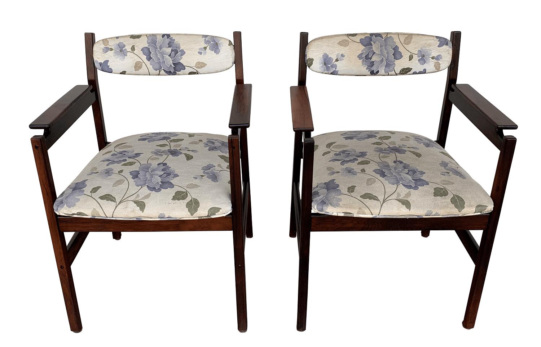 Par De Poltrona Antiga Jacaranda Design Anos 60