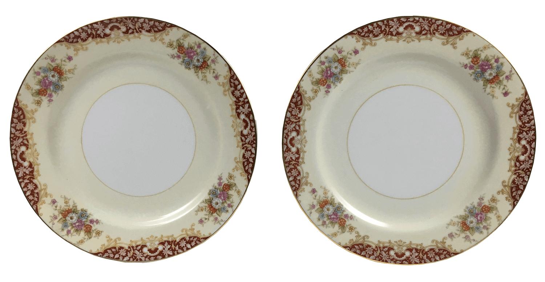 Par De Prato Antigo Porcelana Noritake 19cm