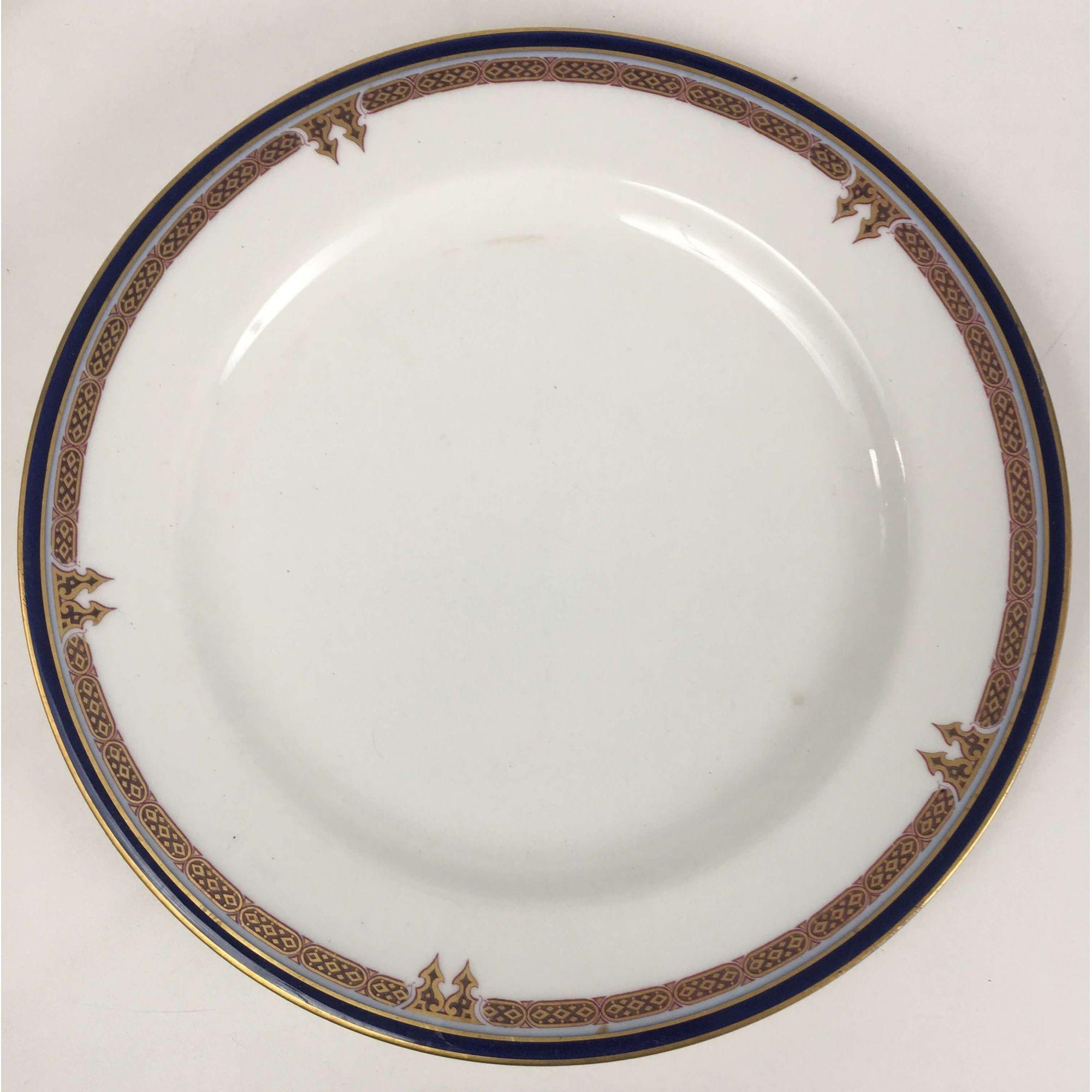 Par De Pratos Raso Em Porcelana Antiga Limoges
