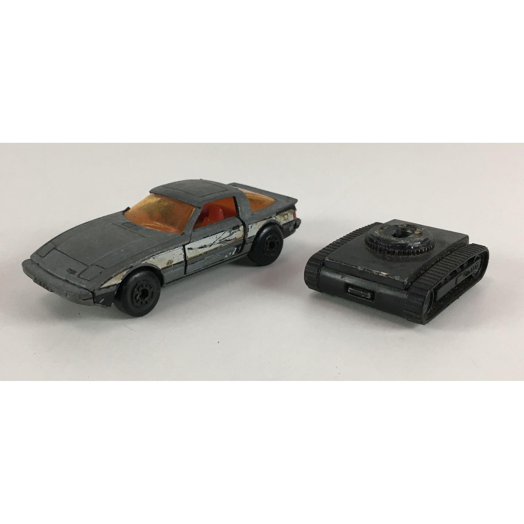 Par Miniatura Matchbox Carro E Escavador