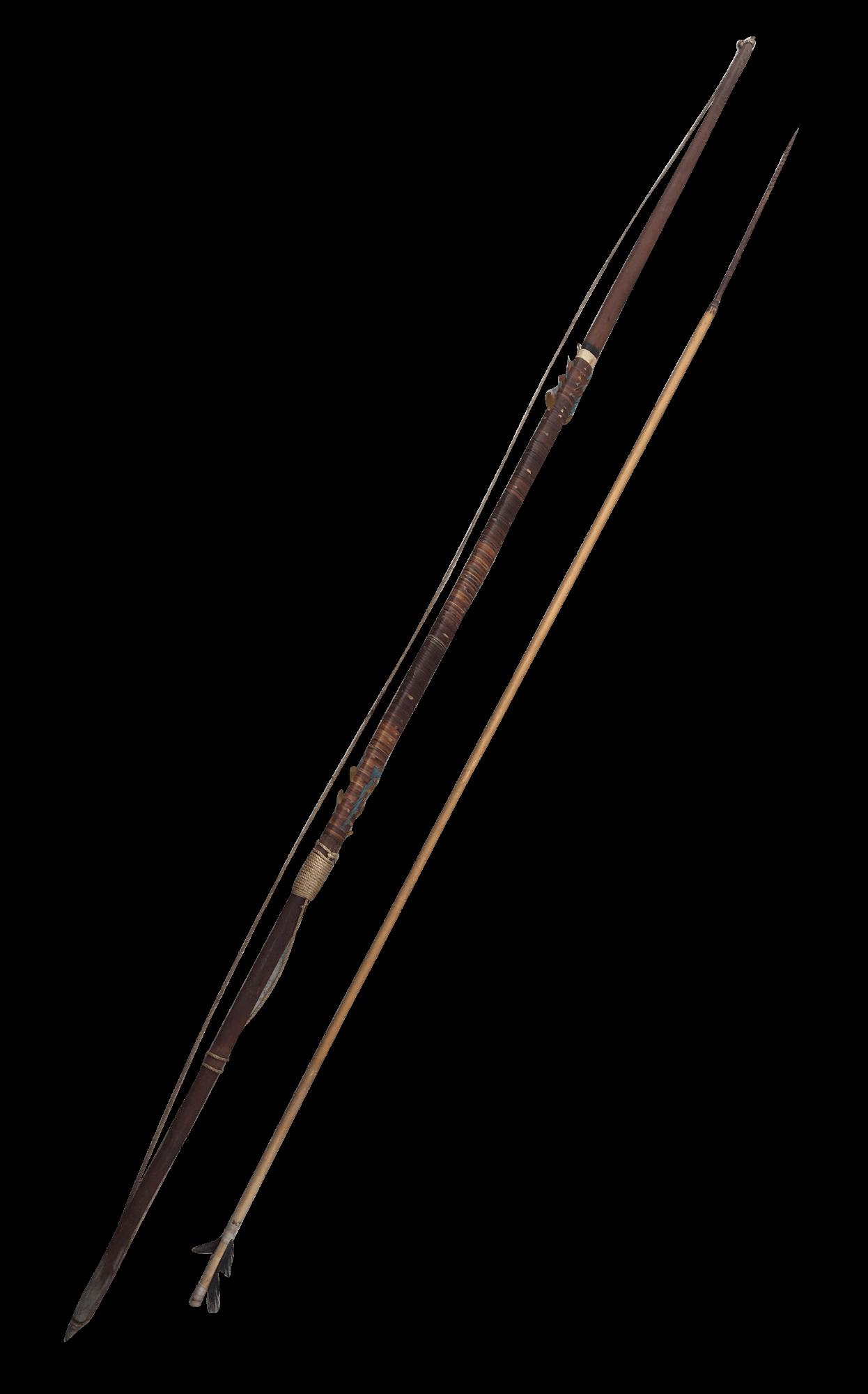 Peça Indigena Antigo Arco E Flecha Madeira 191cm