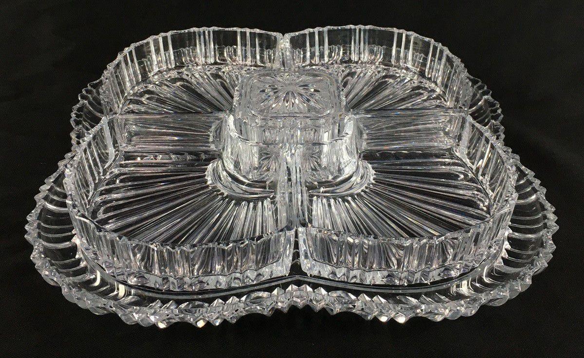 Petisqueira Antiga Cristal Lapidado