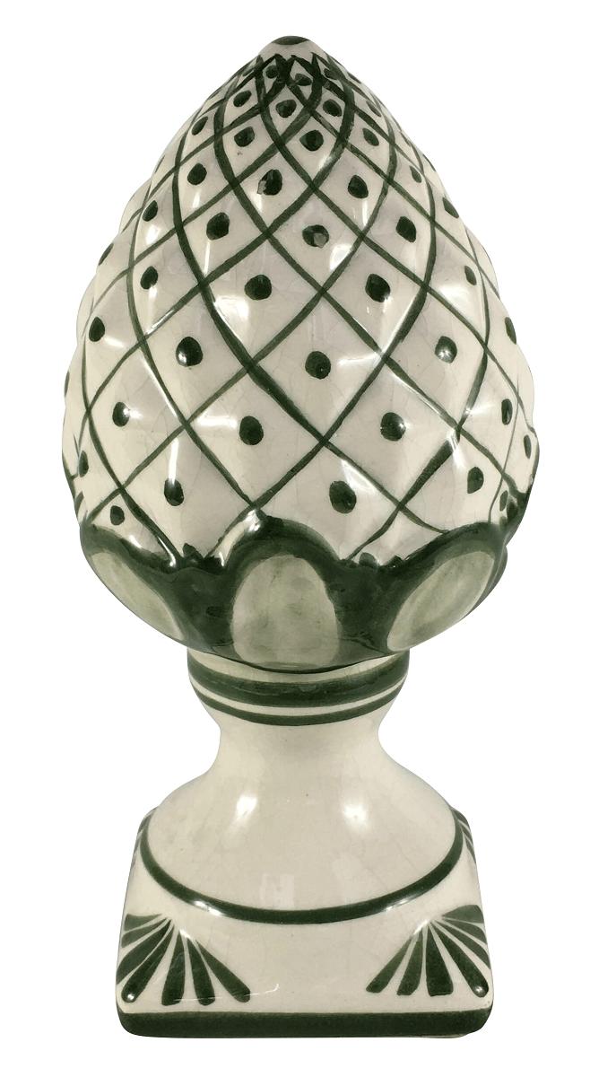 Pinha Antiga Ceramica Verde 22cm
