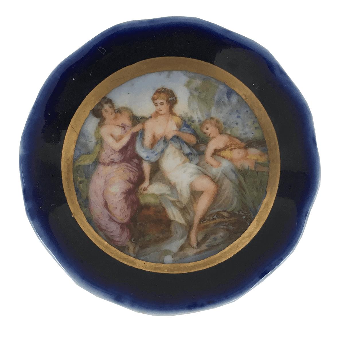 Pratinho Antigo Porcelana Limoges 5cm