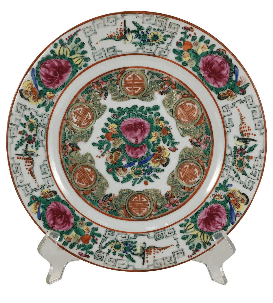 Prato Antigo Porcelana Chinesa Mandarim