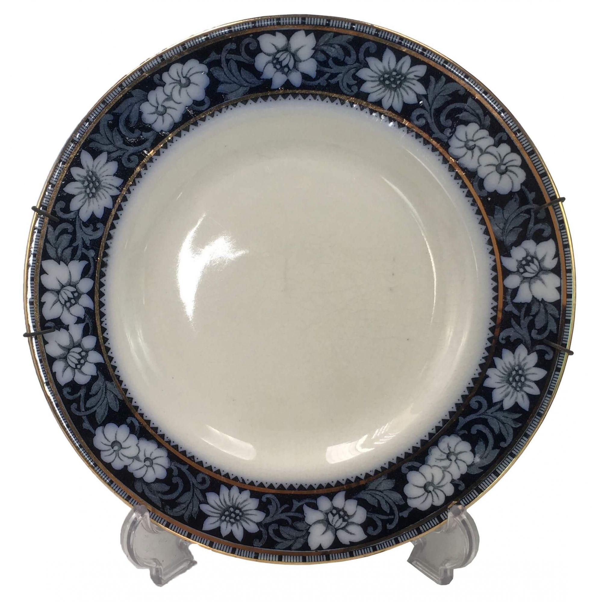 Prato Ingles Semi Borrao Porcelana Antiga Wood & Sons