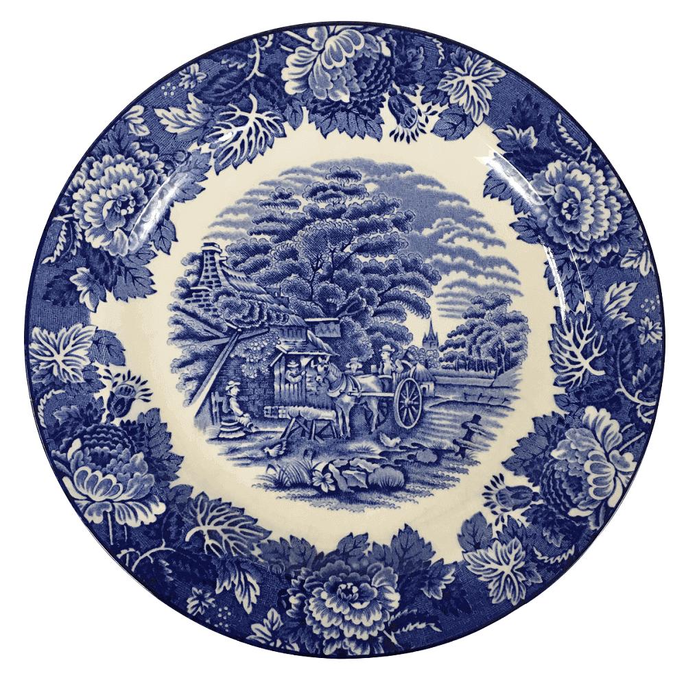 Prato Raso Antigo Em Porcelana Inglesa Fazendinha 23cm