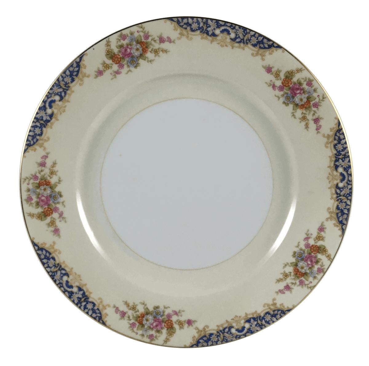 Prato Raso Antigo Porcelana Noritake Florido 26cm