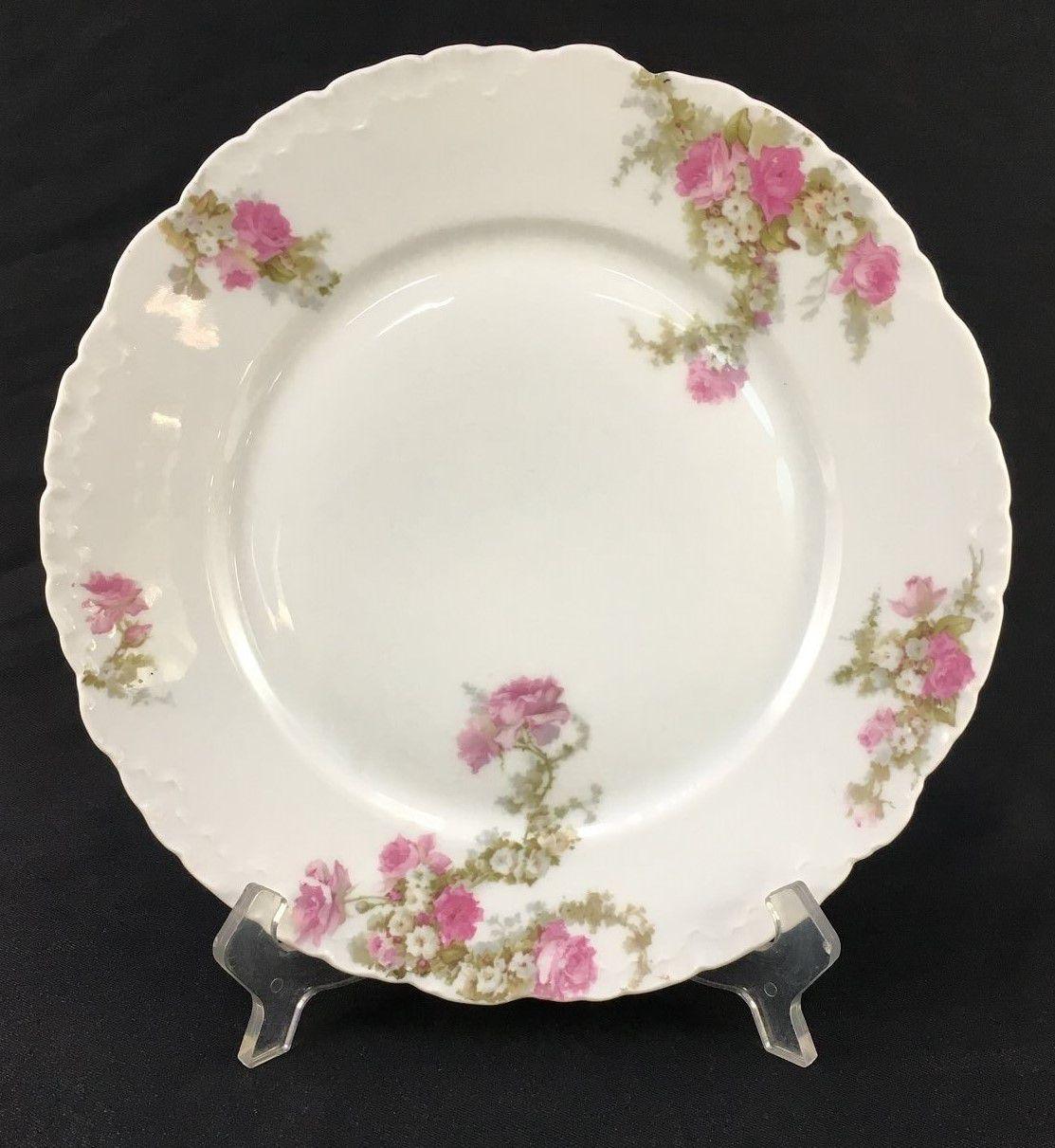 Prato Raso Antigo Porcelana Rosenthal Flores