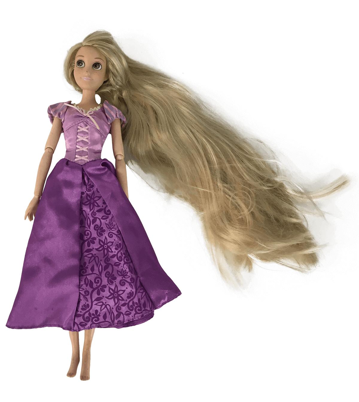 Princesa Rapunzel Enrolados Disney Vestido Roxo Articulada