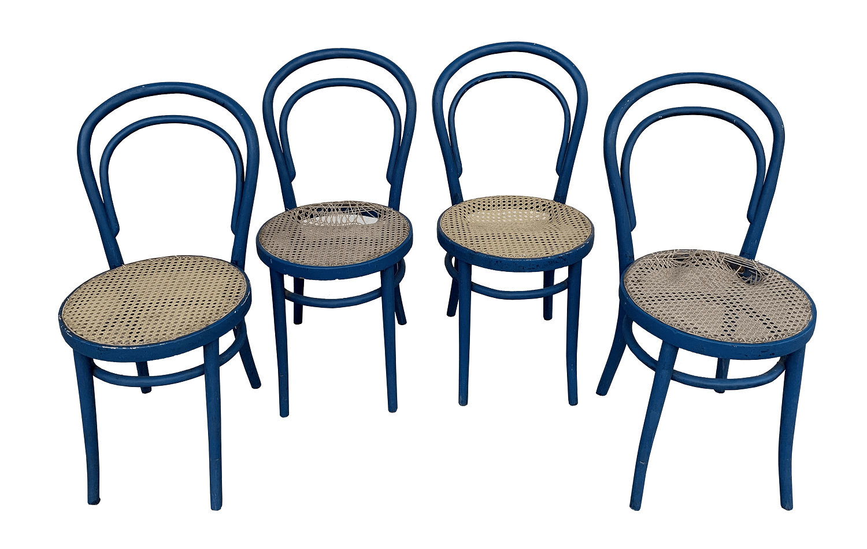 Quatro Cadeiras Thonet Austriaca Antiga Palhinha