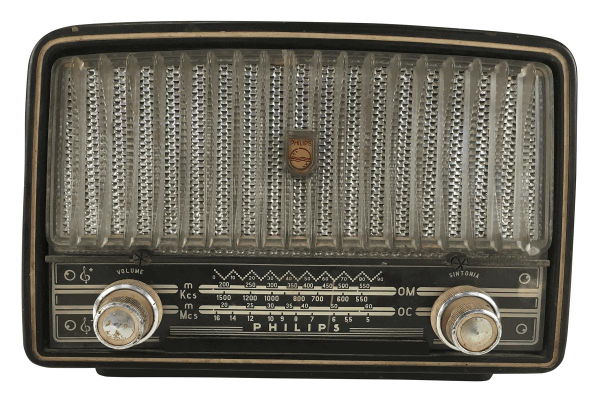Radio Antigo Philips BR246 Funcionando