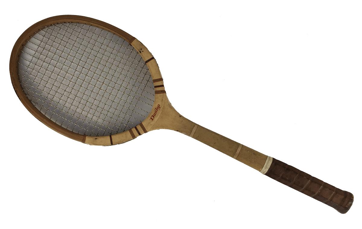 Raquete De Tenis Antiga Madeira Dunlop Inglesa